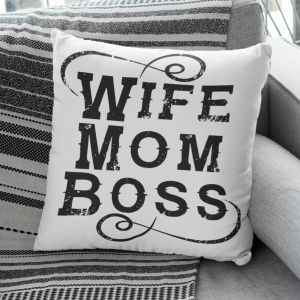 Poduszka Wife Mom Boss