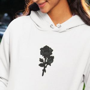 Bluza z haftem Black Rose