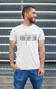T-shirt męski Faith Hope Love