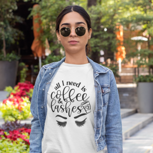 T-shirt  Coffee&Lashes