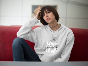 Bluza Love Yourself Szara XL out