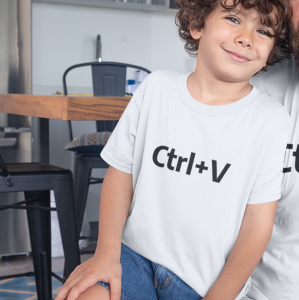 T-shirt Ctrl+V 3/4 lat out