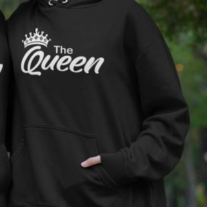 Bluza The Queen Napis Czarna XL out