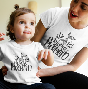 Komplet T-shirtów Mama Mermaid Mini Mermaid