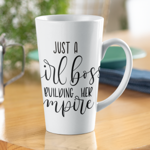 Kubek Ceramiczny XL Latte Just a Girl Boss Building Her Empire