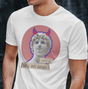T-shirt męski I Swear He's An Angel