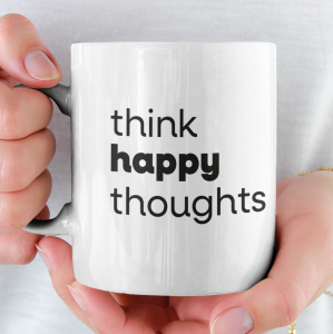 Kubek Ceramiczny Think Happy Thoughts