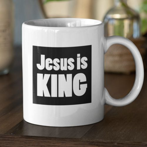 Kubek  Jesus is king
