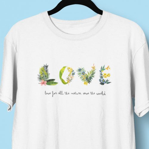 T-shirt koszulka Love for all the nature, save the world
